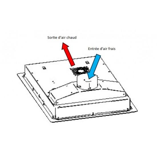 Индукционен котлон за вграждане една зона ф280, 3kW
