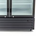 Хладилна витрина за напитки със стъклени врати 700л.