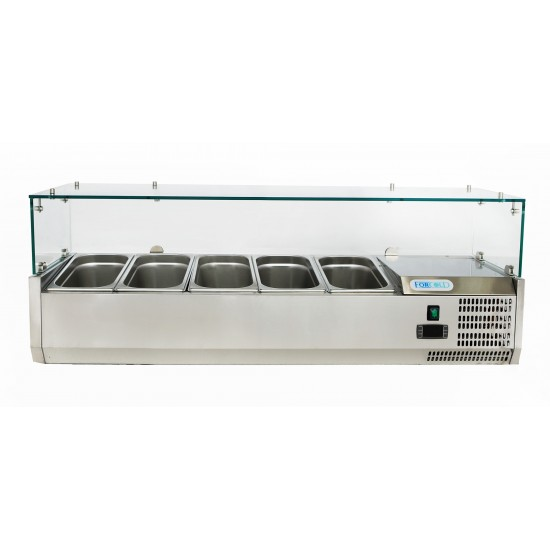 Хладилна витрина 5 GN 1/4, 1200x330x435h