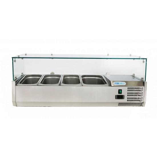 Хладилна витрина  3х1/3GN + 1х1/2GN, 1200x380x435h