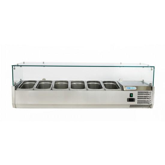 Хладилна витрина 6 GN 1/4,1400x330x435h