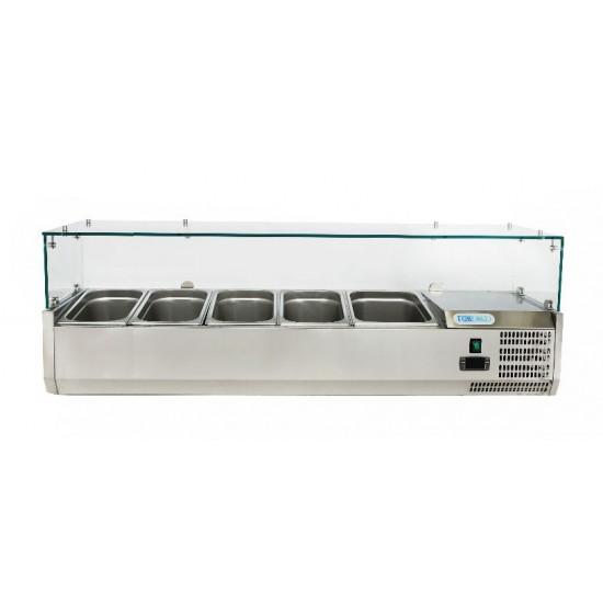 Хладилна витрина  4х1/3GN + 1х1/2GN , 1400x380x435h