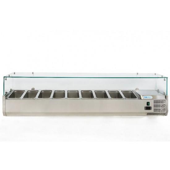 Хладилна витрина 9 GN 1/4, 1800x330x435h