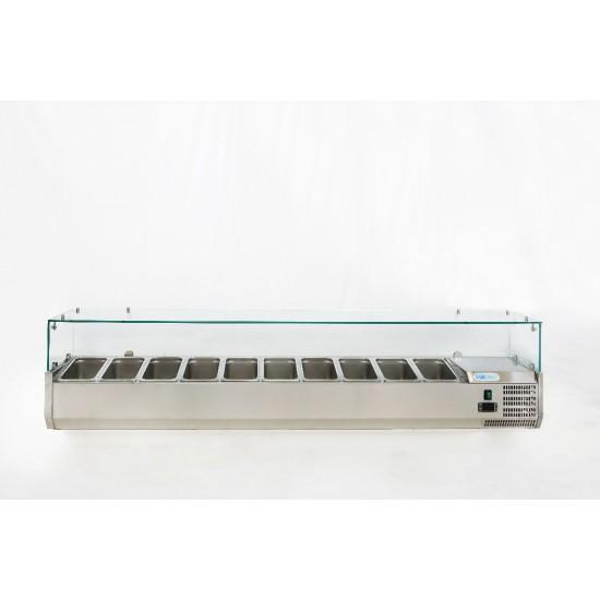 Хладилна витрина за 10xGN 1/4-150, 2000х330х435h