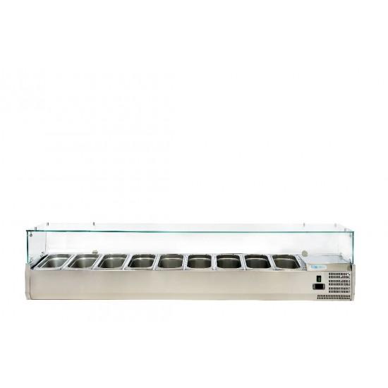 Хладилна витрина за 9х1/3GN, 2000х380х435h