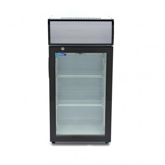 Хладилна витрина за напитки със стъклена врата 80л.