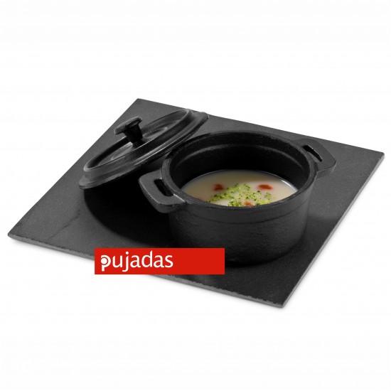 Чугунена мини касерола Ø100 мм за презентационно готвене и сервиране