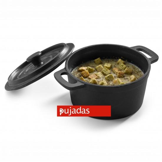 Чугунена мини касерола, дълбока Ø140 мм за презентационно готвене и сервиране