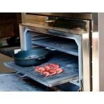 Барбекю-фурна на дървени въглища, настолна с отопляема горна решетка HMB SB 75