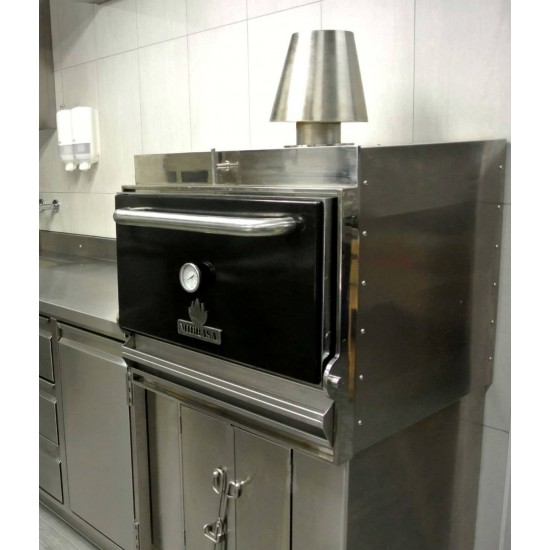 Барбекю-фурна на дървени въглища, с долен шкаф HMB AB 110