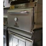 Барбекю-фурна на дървени въглища, с долен шкаф и горна отопляема решетка HMB AB SB 75