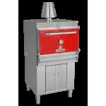 Барбекю-фурна на дървени въглища, с долен шкаф HMB AB 75