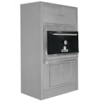 Барбекю-фурна на дървени въглища с горен отоплителен и долен неутрален шкафове HMB AC 75