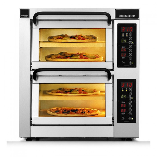 Пица фурна 2 камери, 4 плочи, настолна. PM 352ED-2 PizzaMaster Sweden
