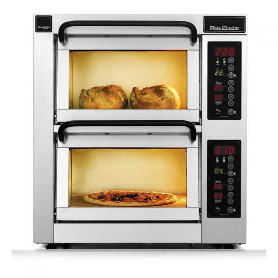 Пица фурна 2 камери, 2 плочи, настолна. PM 352ED PizzaMaster Sweden