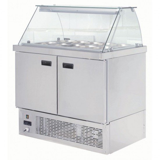 Хладилна витрина експозиционна - салат бар 10-1/4GN