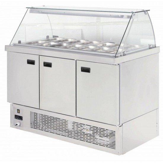 Хладилна витрина експозиционна - салат бар 14-1/4GN
