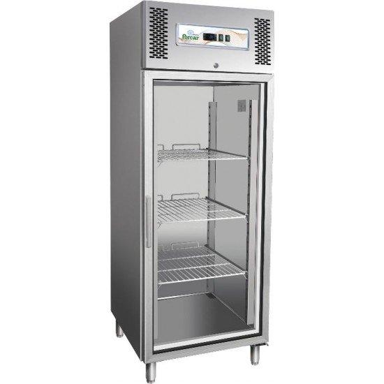 Хладилник неръждаем със  стъклена врата 2/1 GN Forcar