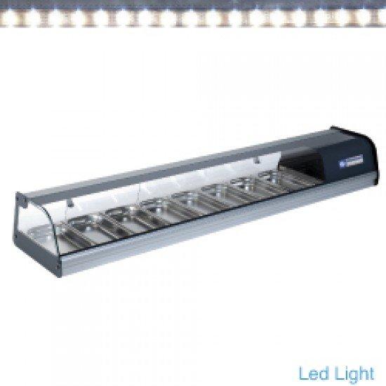 Хладилна витрина за суши 8 GN 1/3 LED