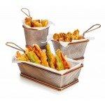Кошничка за сервиране на пържени картофи бронз Lacor