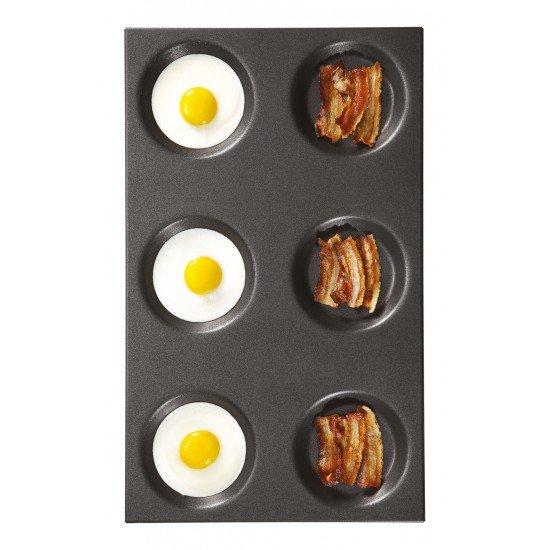 Тава за яйца на очи с незалепващо покритие GN 1/1