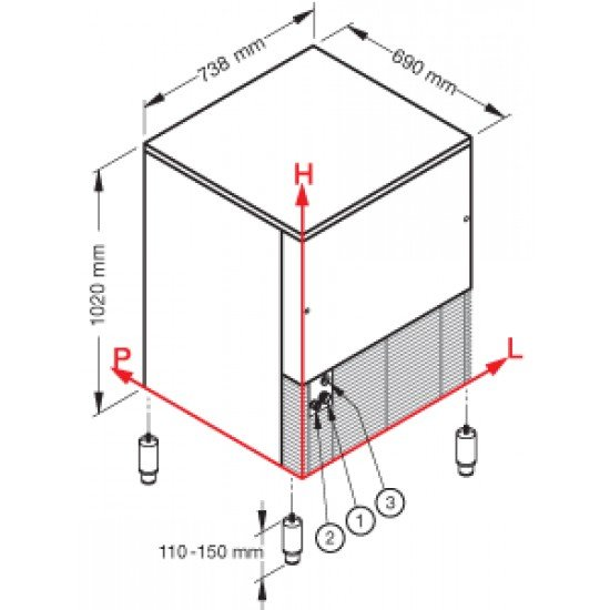 Ледогенератор GB 1555, 150кг./24ч. Brema